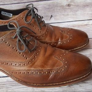 COLE HAAN Brown Wing Tip Leather Oxford 8 1/2 Shoe